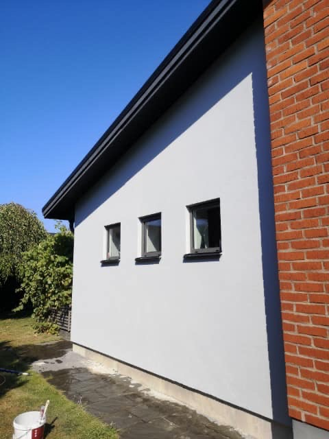 Ommålning av fasad
